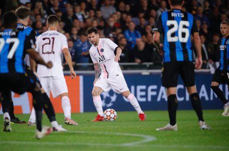 Con Messi, Neymar y Mbappé, el PSG no pudo ante el Brujas en la Champions