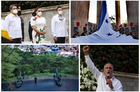 Con cañonazos e izada de la Bandera, Honduras arranca festejos de Bicentenario