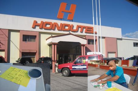 Nuevamente en protesta empleados de Hondutel por falta de pago