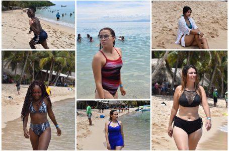 Belleza femenina ya engalana las playas de Tela, previo al Feriado Morazánico
