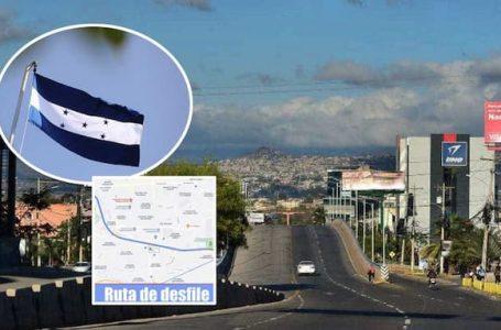 Por celebración del Bicentenario mantienen cerradas varias vías de acceso en Tegucigalpa