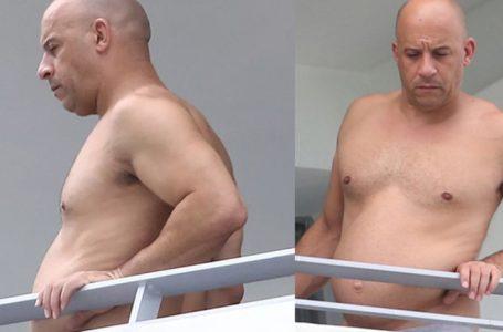 Vin Diesel reaparece en sus vacaciones luciendo evidente sobrepeso