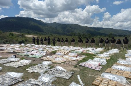 Incineran más de 3.3 toneladas de cocaína decomisadas en Islas de la Bahía, Olancho y La Ceiba