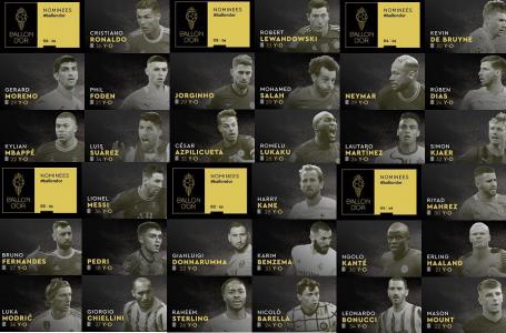 Messi, CR7, Neymar y Lewandowski, entre los 30 nominados al Balón de Oro 2021