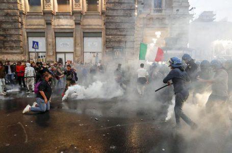 Graves disturbios en Roma durante una manifestación contra el pasaporte Covid-19