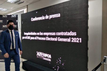 El CNA revela irregularidades en cuatro empresas contratadas por el CNE para elecciones