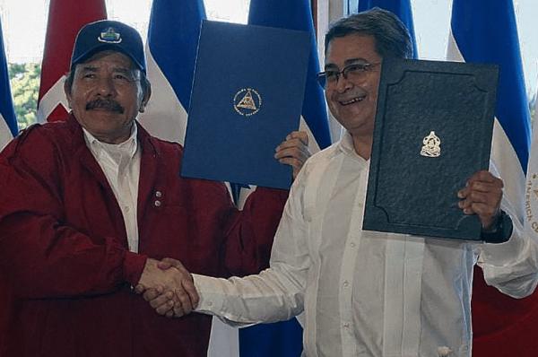 Honduras y Nicaragua firman acuerdo de límites marítimos