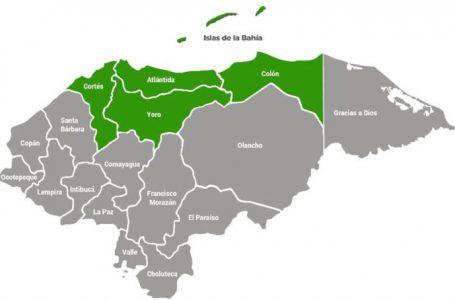 Alerta verde para cinco departamentos por ingreso de frente frío al país